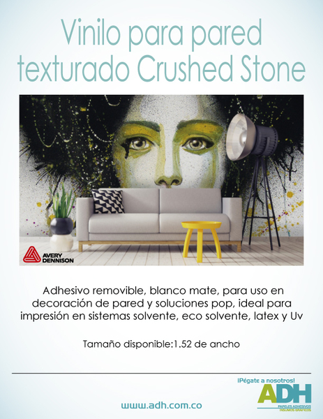 vinilo crushed stone para paredes avery